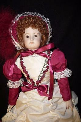 Beautiful Bisque French Antique Reproduction Doll Amazing Detailed Dress