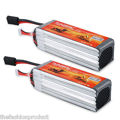 2x 3S 11.1V 8000mA 40C Lipo RC Battery Pack for RC Car Airplane Helicopter Hobby