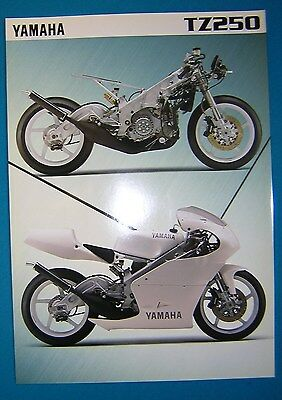 Yamaha TZ250 1996 Specification Sheet. Printed by Yamaha UK. New