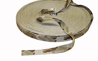 "Double Sided Crye Multicam ARID Camouflage Military Spec 25mm / 1"" Webbing"