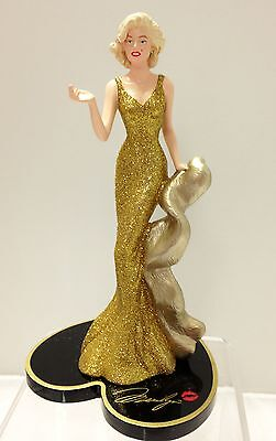 Gilded Gift Marilyn Monroe Figurine  Bradford Exchange Marilyn Monroe