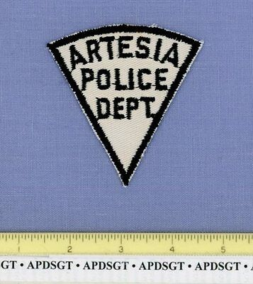 ARTESIA (~Old Vintage) NEW MEXICO NM Sheriff Police Patch RARE
