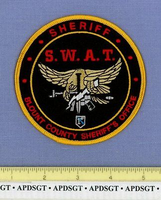 BLOUNT ~ SWAT ~ COUNTY SHERIFF TENNESSEE TN Police Patch SWORD 1* GOLD EAGLE