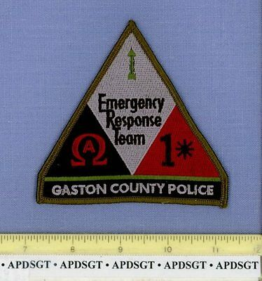 GASTON ~ SWAT ~ COUNTY POLICE NORTH CAROLINA NC Sheriff Police Patch 1* SUBDUED