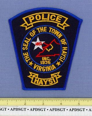 HAYSI VIRGINIA VA Sheriff Police Patch STATE SHAPE OUTLINE