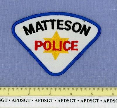 MATTESON (~Old Vintage) ILLINOIS IL Sheriff Police Patch GOLD STAR