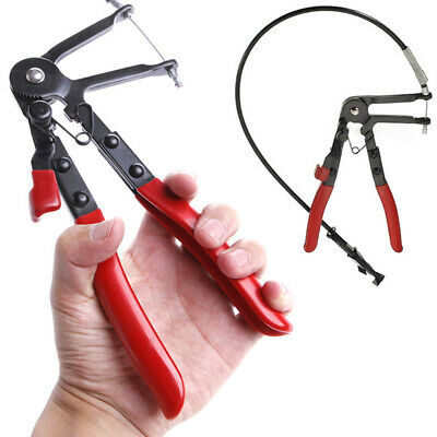 Flexible Wire Long Reach Hose Clamp Pliers Auto Fuel Oil Water Pipe Repair Tool
