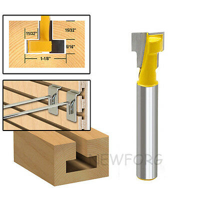 "1/4"" 6.35 mm Shank T-Slot Cutter Router Bit for 1/4"" Hex Bolt  For Woodworking"