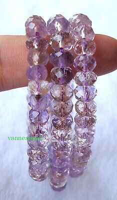 Natural Ametrine Faceted Rondelle Beads Stretch Bracelet 5×7mm