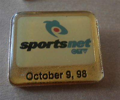 CTV Sportsnet (launched) October 9, 1998 - Media Lapel Pin