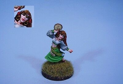 Ral Partha painted miniature cute Female Gypsy (30 day listing)