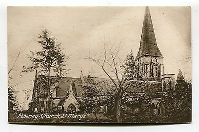 Abberley, Worcestershire - St Mary's Church - old postcard