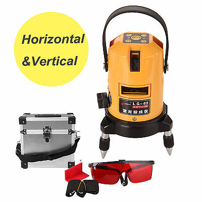 Automatic Self Leveling 6 Point Laser Level Line Cross Rotary Rotating Red Beam