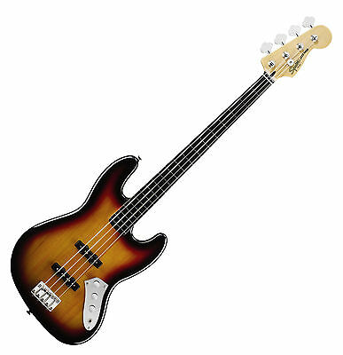 Fender Squier Vintage Modified Jazz Bass Guitar Fretless Rw 3Ts E-Bass Gitarre