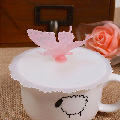 Bottle Anti-dust Glass Cup Mug Lid Cover Cartoon Schmetterling Cup Cover Silikon