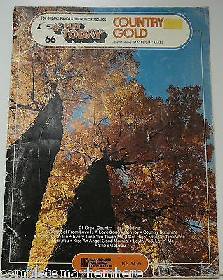 No. 66 Country Gold  E-Z Play Today music book keyboard songs