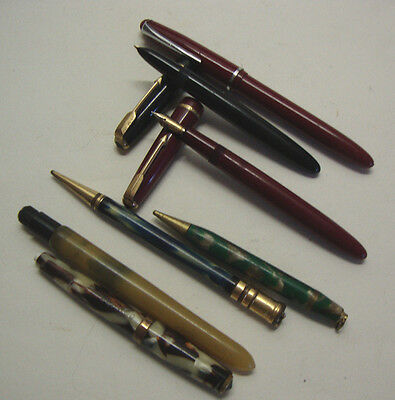 Small collection of various pens including two parkers