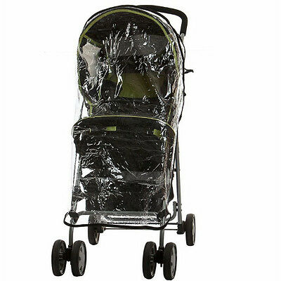 Universal Baby Single Stroller Raincover  Easy Fit Compact Wind & Water Shield