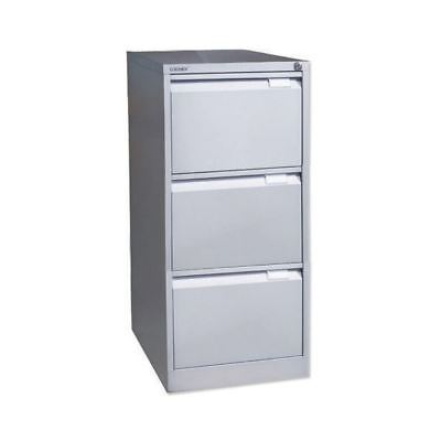 Bisley Grey Three-Drawer Filing Cabinet  BS3EGY