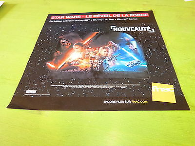 Star Wars !!!!!!!!!!!!!!!!! Plv 30X30 Cm !!french Record Store Promo Adertv!!