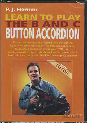 Learn to Play the B and C Button Accordion Tuition DVD by PJ Hernon