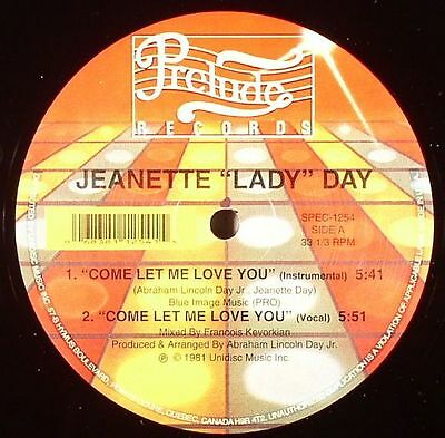 "DAY, Jeanette ""Lady"" - Come Let Me Love You - Vinyl (12"")"
