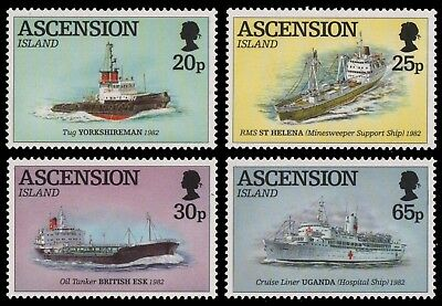 Ascension 1994 - Mi-Nr. 641-644 ** - MNH - Schiffe / Ships