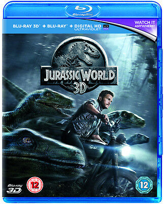 Jurassic World 2D/3D Bluray NEW