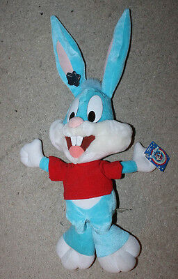 "1990 Vintage Applause Tiny Toons Adventure 15"" Blue Buster Bunny Unused Plush"