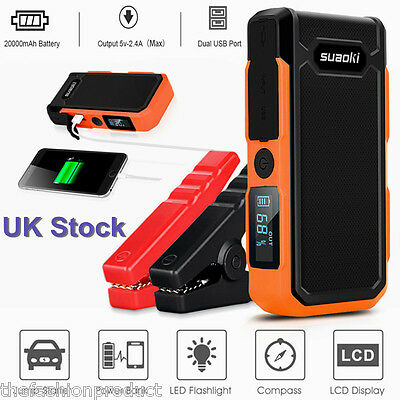 800A 20000mAh Car Jump Starter Auto Battery Emergency Booster Charger Power Bank