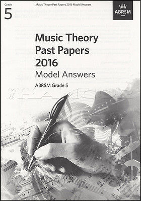 ABRSM Music Theory Past Papers 2016 Model Answers Grade 5 Exams Test Sheet Music