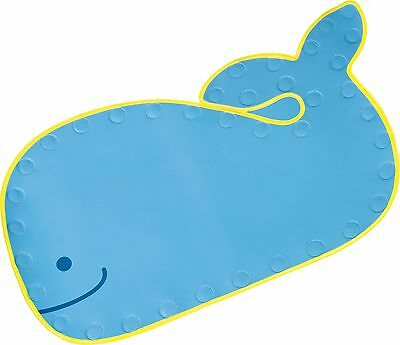 Skip Hop MOBY BATH MAT Non Slip Rubber Suction Blue Toddler/Child/Kid BN
