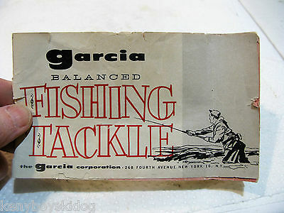 OLD Garcia FISHING TACKLE  - REELS RODS LURES - BOOKLET -  GOOD USED COLLECTOR