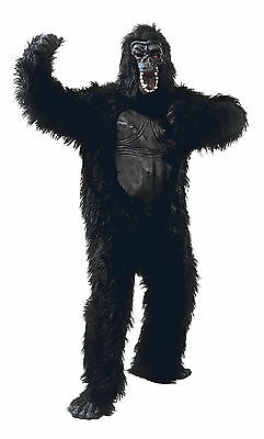 Unisex Gorilla & Rubber Chest Costume for Ape Animal Fancy Dress Outfit Adult