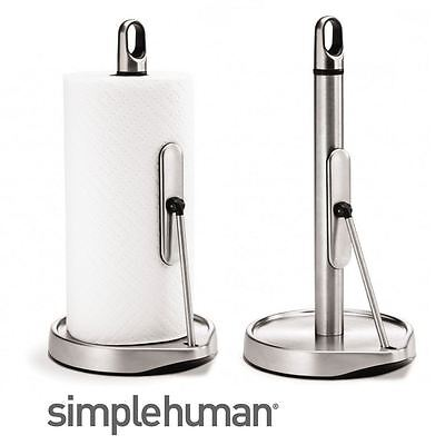 Simplehuman Stainless Steel Tall or Medium Tension Arm Kitchen Roll Towel Holder