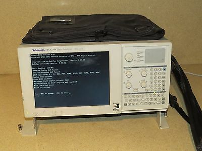 TEKTRONIX TLA 704 LOGIC ANALYZER COLOR PORTABLE MAINFRAME- TLA7M3, P6417 probes