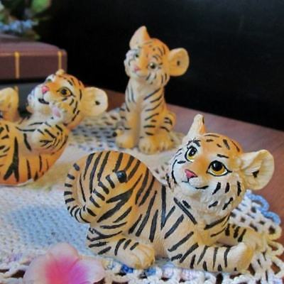 "6 ADORABLE 3"" SIBERIAN TIGER CUB TIGERS FIGURINES All Different Positions ~ NEW!"