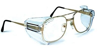 B52 Universal Clear Safety Side Shields for Large Frame Glasses OSHA Approved