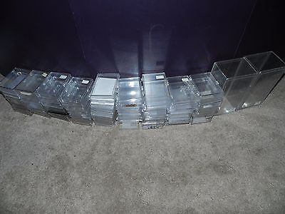 Lot of (75) USED 30 Ct, Plastic Hinged Snap Storage Boxes for Cards More or less