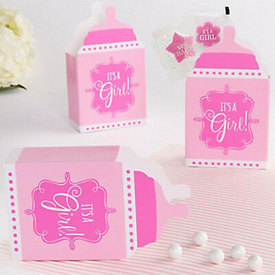 BABY SHOWER It's a Girl BOTTLE SHAPED FAVOR BOXES (24) ~ Party Supplies Treat