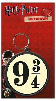 Harry Potter Keyring Keychain Platform Nine and Three Quarters Official Rubber