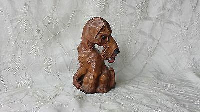 Vintage Single Bookend Syroco Wood Airedale Terrier Art Deco