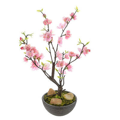 Artificial Cherry Blossom in Pot Pink 32cm/12.5 Inches