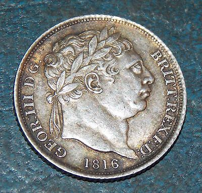 1816 George Iii Silver Sixpence Coin Superb Collectable Condition