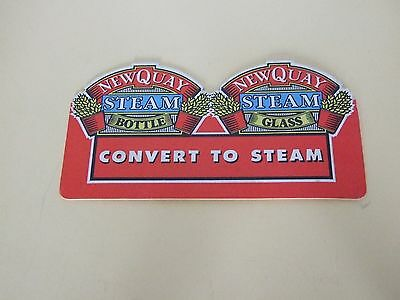 A Vintage Beer Mat/coaster - Newquay Steam Beer