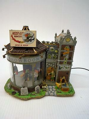 Lemax Halloween Spooky Town, Wicked Fast Broomsticks, Read Description (h1582)