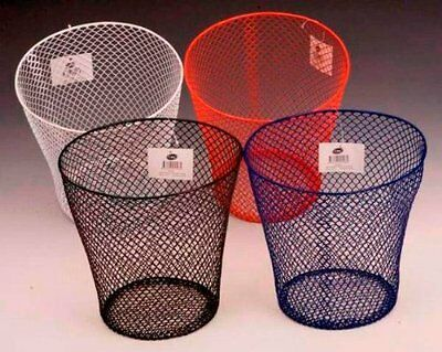 E56313 Waste Basket Wire Rnd Pack Of Three Assorted Colours