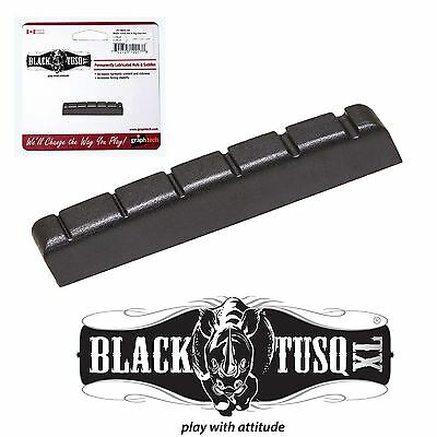 Graphtech Black Tusq XL Nut 42 X 6 For 6 string Acoustic or Electric guitars
