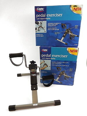 Carex Lot Of 2 Stationary Pedal Exercisers With Digital Display NIB