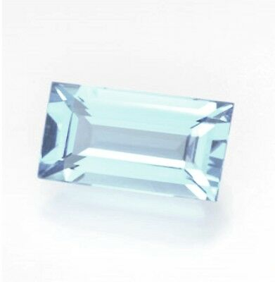 "NATURAL AQUAMARINE B 7mm x 5mm BAGUETTE CUT GEM GEMSTONE ""B"" GRADE"